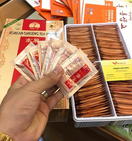 Trà sâm Hàn quốc hộp 100 gói